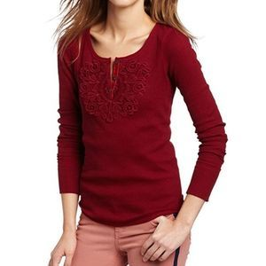 Lucky Brand Medallion Waffle Knit Henley Thermal
